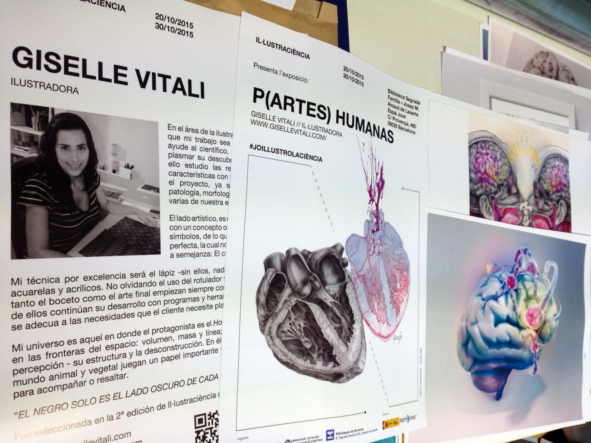 cartel_P(artes) Humanas ilustracion cientifica barcelona illustraciencia