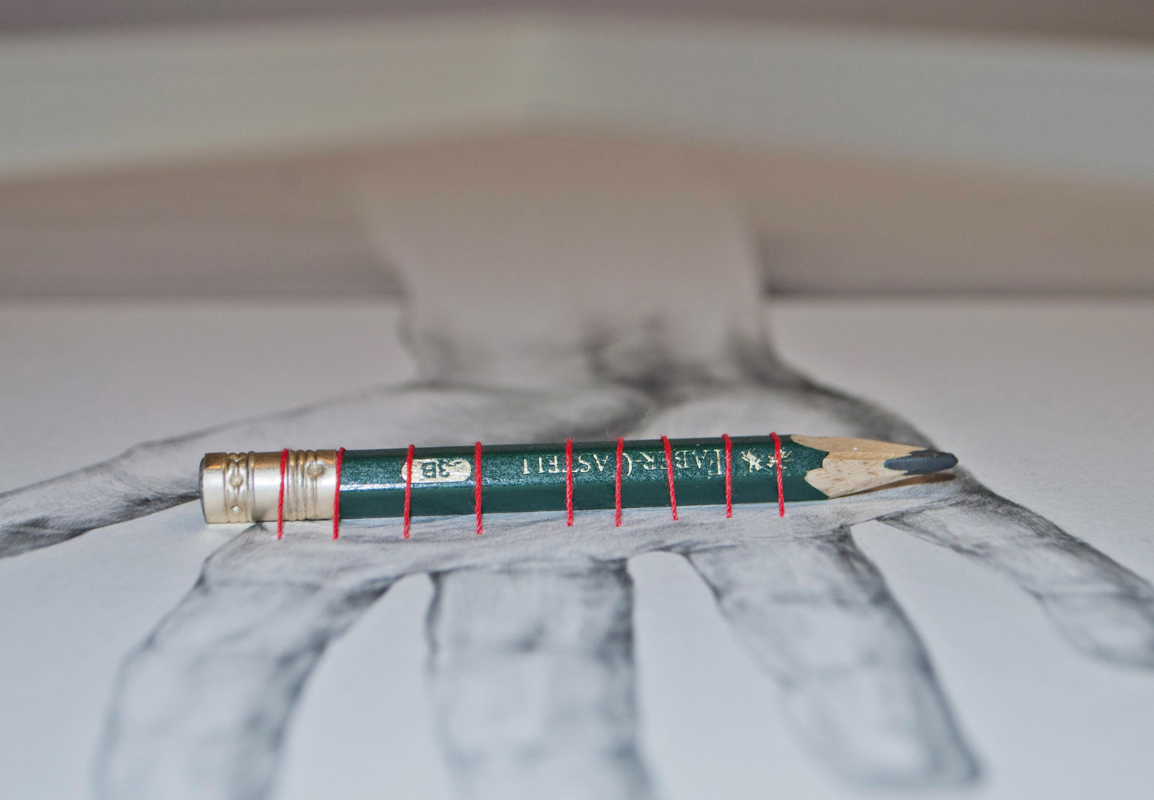 obra de arte con lapiz faber castell creada por giselle vitali