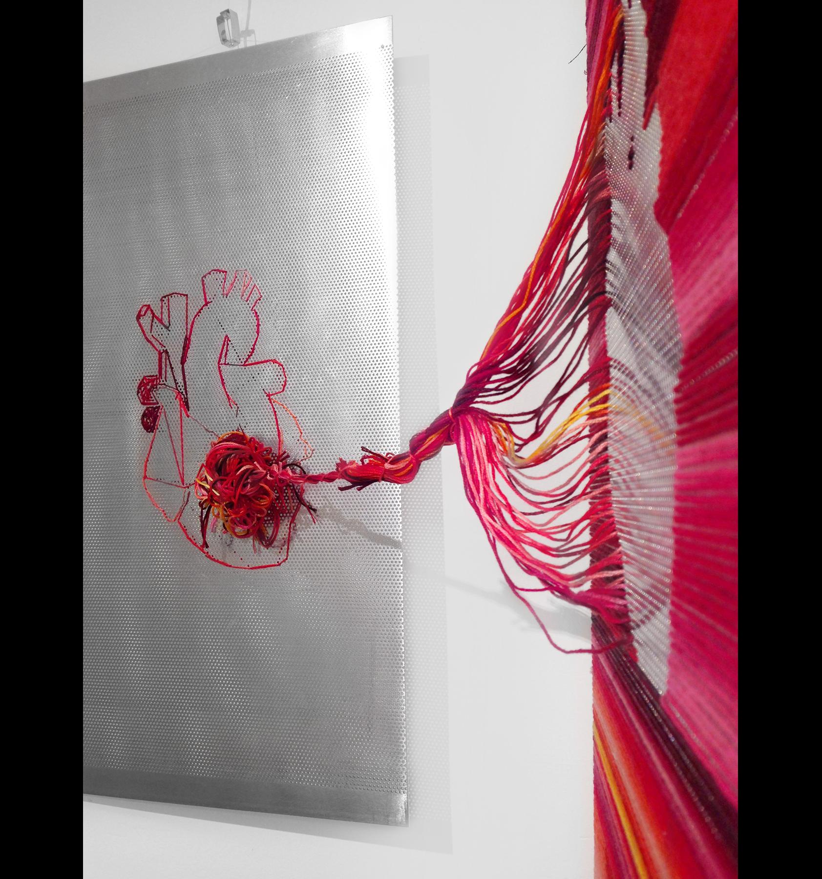 obra de arte escultura con hilo hecha por giselle vitali