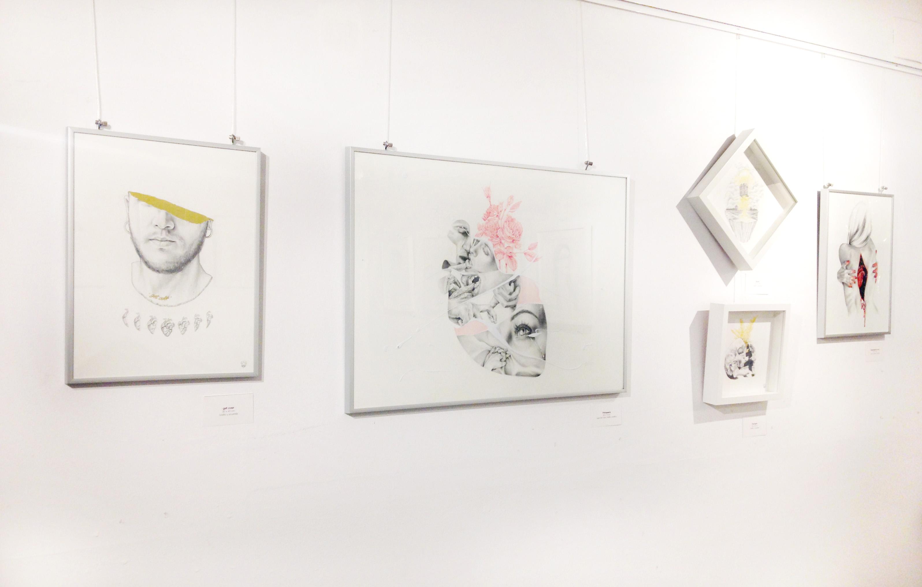 exposicion de arte con Javier Rubin sandra de la cruz y giselle vitali