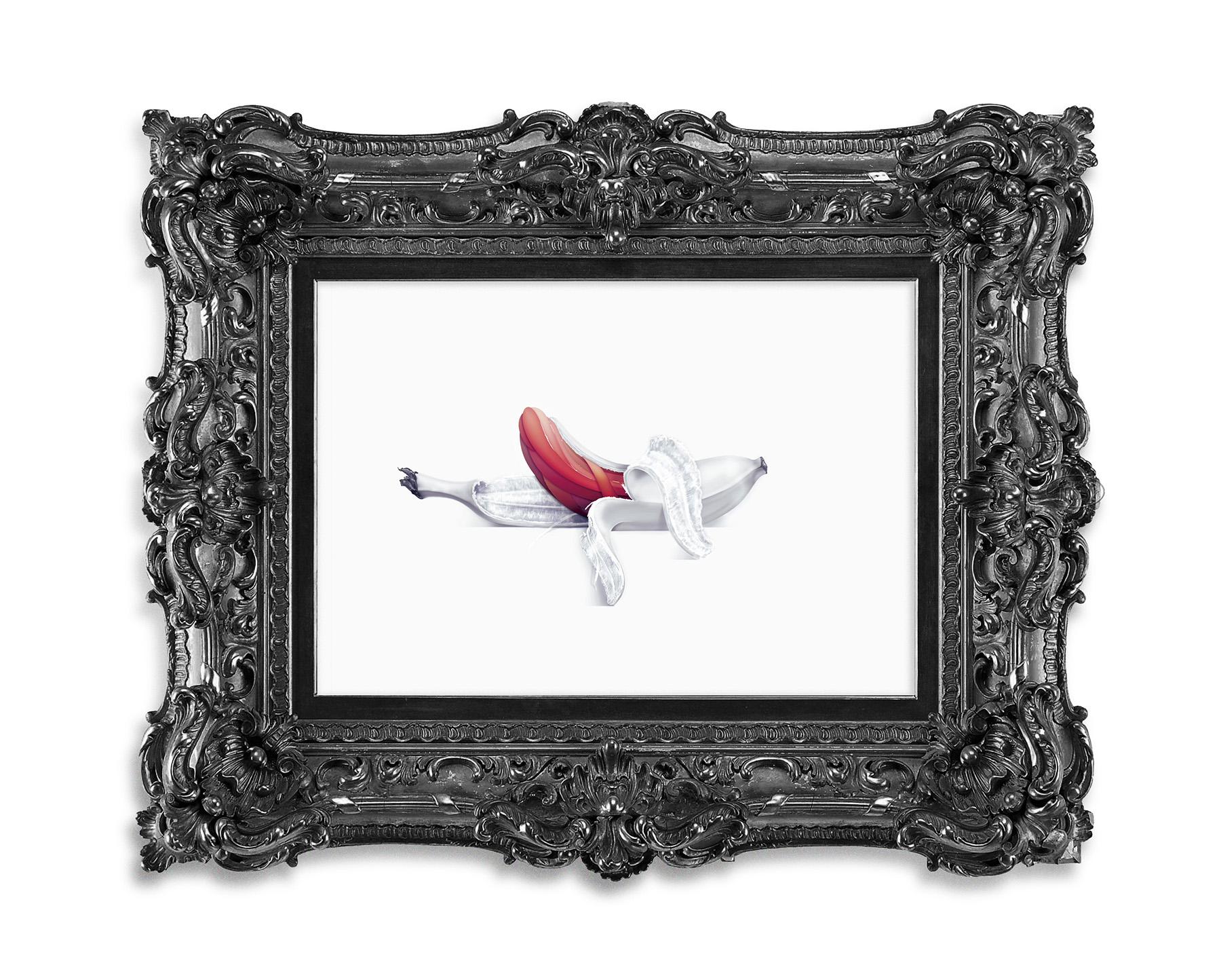 cambur es una ilustracion vectorial hecha por la artista giselle vitali