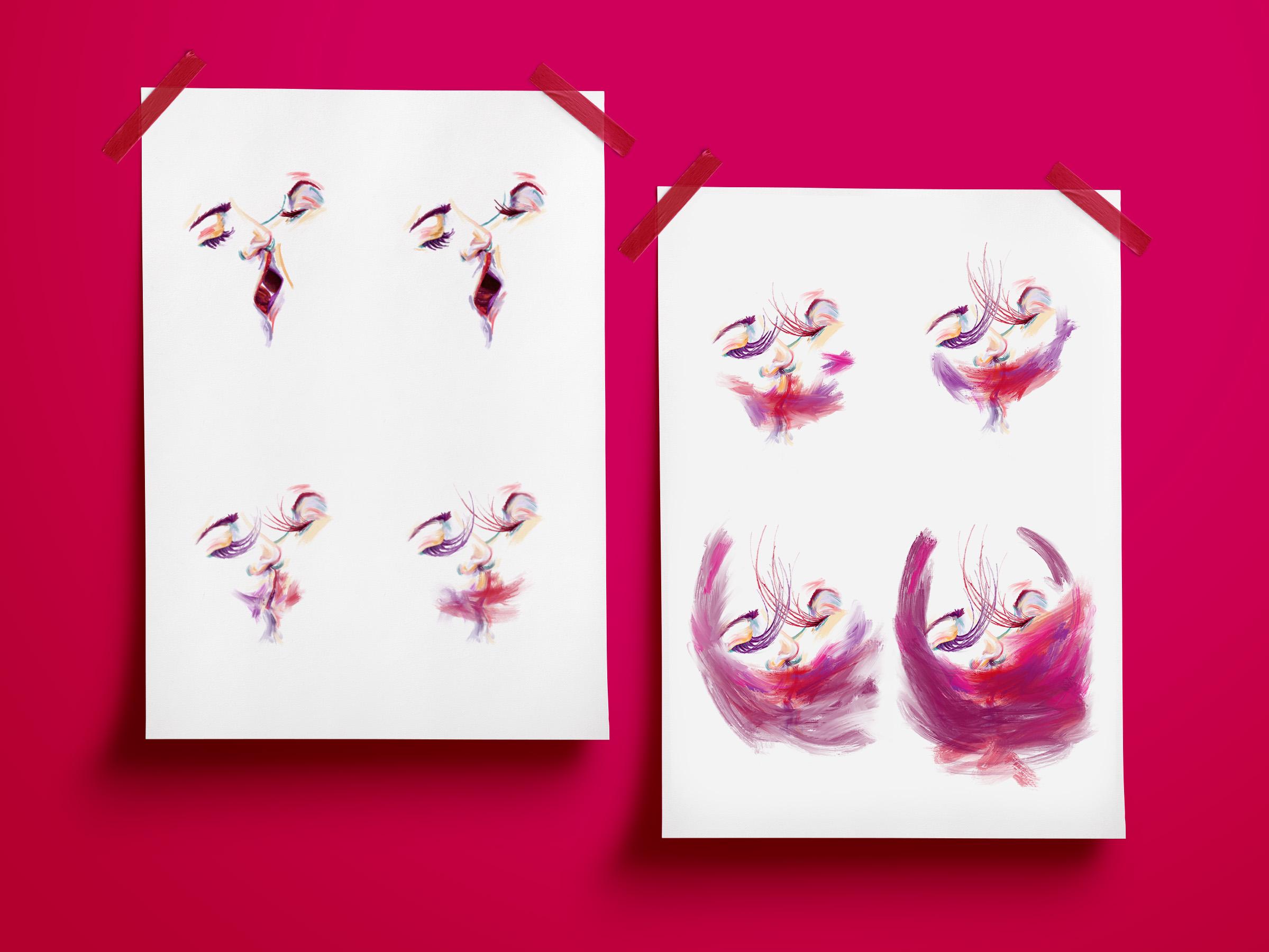 serie de feminismo ilustrado para reinvidicar sentimientos de la mujer a traves de la ilustracion