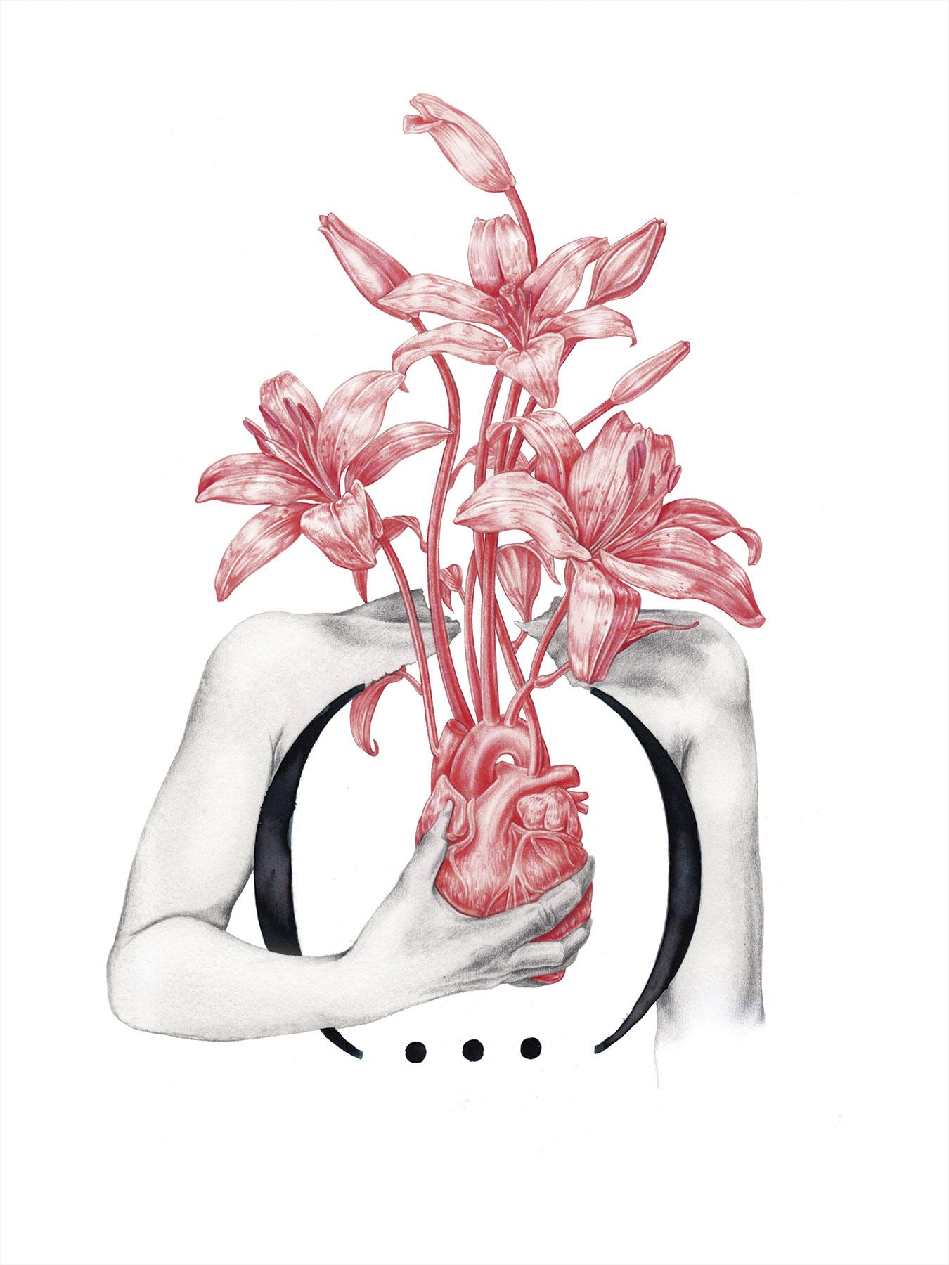 Ilustracion poetica y conceptual hecha por giselle vitali