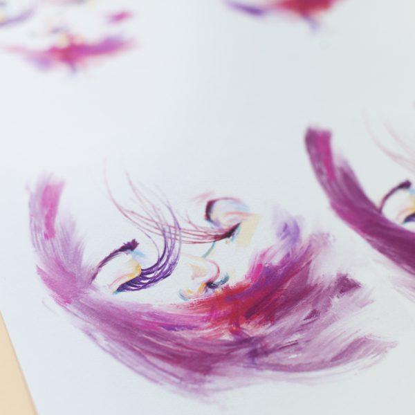 print seriadas de concepto feminista y reinvidicativo ilustrada por giselle vitali