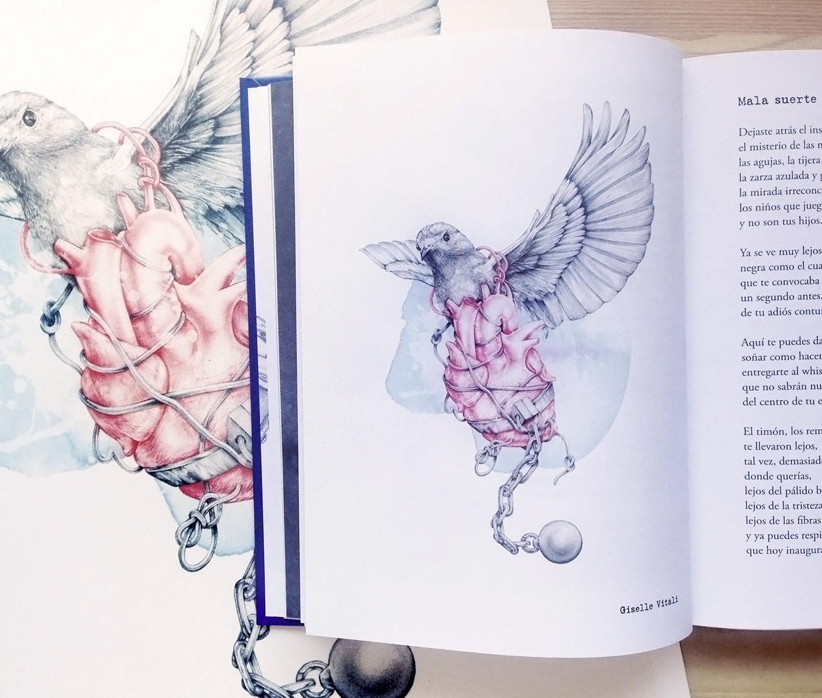 Ilustraciones de Apnea Ilustrada de Ruben Tejerina con la editorial Frida Ediciones