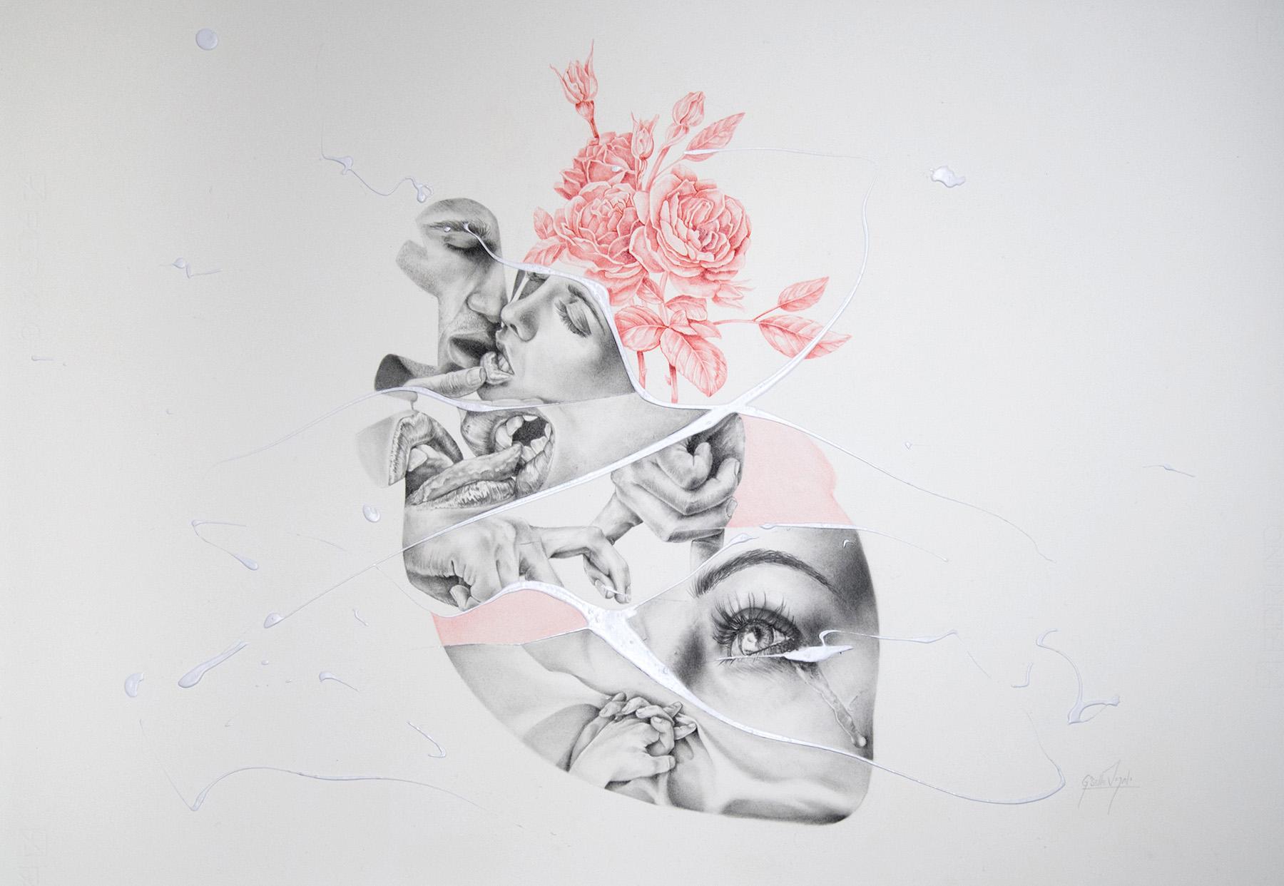 ilustracion a grafito hecha por la ilustradora giselle vitali