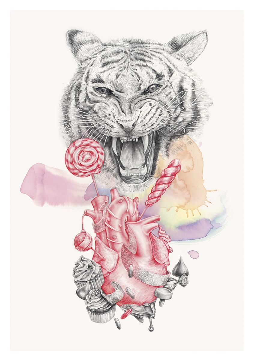 ilustracion con lapiz de grafito hecha por giselle vitali